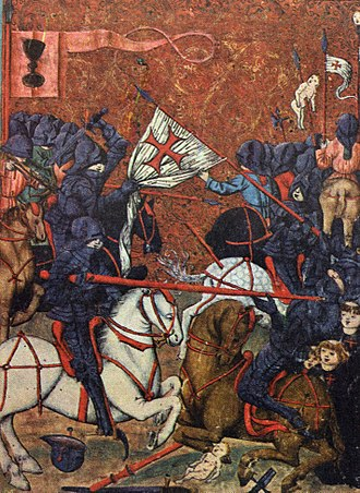 Hussite Wars - Battle between Hussites and Catholic crusaders, Jena Codex, 15th century