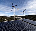 Hybrid system, 2400W windturbines, 4000W solar modules, island Zirje, Croatia.jpg