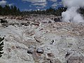 Hydrothermally-altered rhyolitic ash-flow tuff (Lava Creek Tuff, Middle Pleistocene, 640 ka) at Steamboat Geyser (6 August 2013) 4 (12729283315).jpg