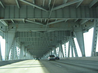 Interstate 5 in Washington - The express lanes on the Ship Canal Bridge