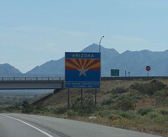 Interstate 10 in Arizona - Entering from California