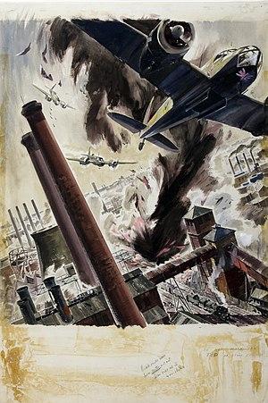 James Gardner (designer) - War effort bombing scene by James Gardner.