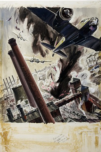 James Gardner (designer) - War effort bombing scene by James Gardner.