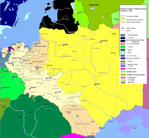 Expansion of Russia 1500–1800 - Poland and Lithuania in 1466