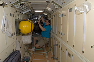 Rassvet (ISS module) - An interior view of Rassvet.