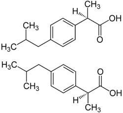 Ibuprofen-Enantiomere Strukturformeln.png