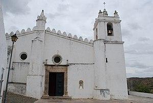 Church of Nossa Senhora da Anunciação - The principal facade showing a mix of elements