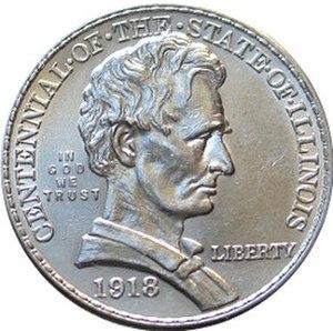 Illinois Centennial half dollar - Image: Illinois centennial half dollar commemorative obverse