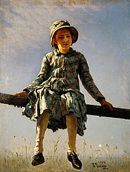 Ilya Repin - Dragonfly. Painter's daughter portrait - Google Art Project.jpg