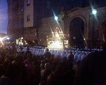 Enna, momento della processione del Cristo morto