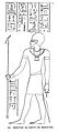 Imhotep, the vizer and physician of King Zoser. Wellcome L0000892.jpg