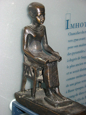 Statuette of ancient Egyptian physician Imhote...