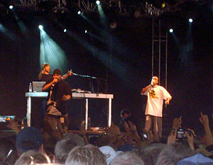 Immortal Technique - Immortal Technique (left) at the Roskilde Festival, 2006