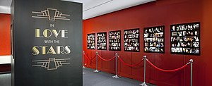 Film Reference Library - In Love with the Stars exhibition inside the Film Reference Library at TIFF Bell Lightbox