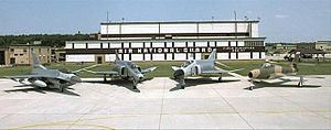Indiana ANG historic fighter aircraft at Terre Haute Apt 2008.jpg