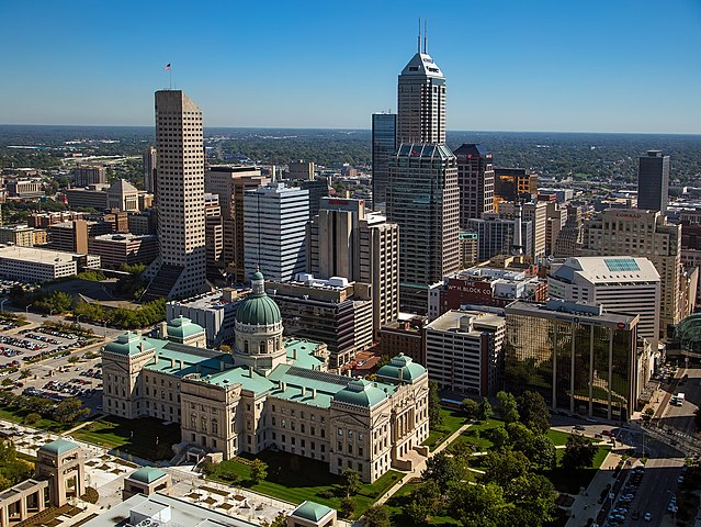 View of downtown Indianapolis, Indiana