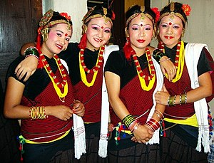 Demographics of Nepal - Indigenous magar girls of Nepal