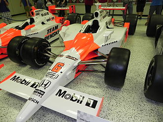 Sam Hornish Jr. - Hornish's 2006 Indianapolis 500 winning car at the Indianapolis Motor Speedway Hall of Fame Museum