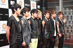 Infinite(South Korean band) in Cyworld Dream Music Festival.jpg