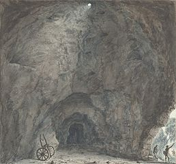 Inside of the cave, Llanarmon,