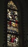 interieur passiekapel, overzicht glas in loodraam - lith - 20334128 - rce