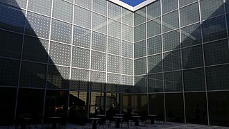 Aga Khan Museum - The interior courtyard is a traditional feature of Islamic architecture.