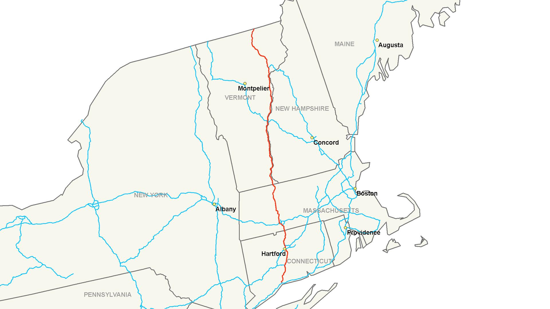White River Junction Vt >> Interstate 91 - Wikipedia