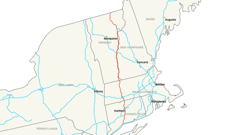 پرونده:Interstate 91 map.png