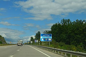 Interstate 99 - Entering New York.