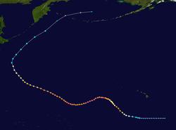 Pad van een tropische cycloon
