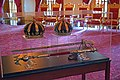 Iolani Palace Throne Room crowns 1.jpg