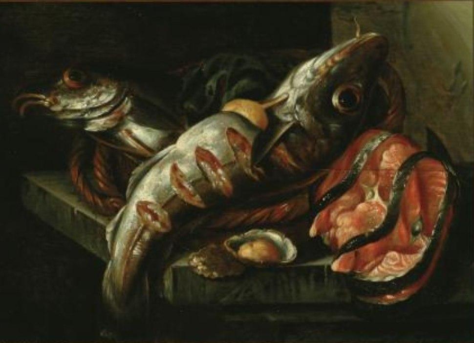 Isaac van Duynen - Still life of fish