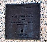 Isabel Zendal Gómez placa na casa do home A Coruña.jpg