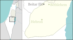 Kfar Etzion is located in the Southern West Bank
