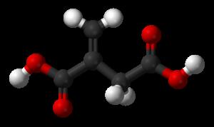 Itaconic acid - Image: Itaconic acid 3D balls