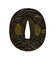 Iwamoto Konkan - Tsuba with Autumn Grasses and Insects - Walters 51382 - Back.jpg