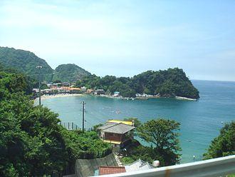"""Izu Peninsula - Iwachi shore (岩地海岸), also dubbed """"Izu Côte d'Azur"""", in Matsuzaki."""