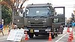JASDF 2000-gallon aircraft refueller truck kai(UD Quon, 47-3444) left front view at Kasuga Air Base November 25, 2017 01.jpg