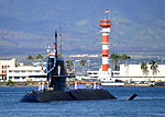 JS Hakuryu (SS-503) arrives at Joint Base Pearl Harbor-Hickam for a scheduled port visit, -6 Feb. 2013 (YP255-012).jpg