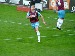Jack Collison - Collison celebrating scoring a goal in May 2012 in a 2–0 win over Cardiff City.