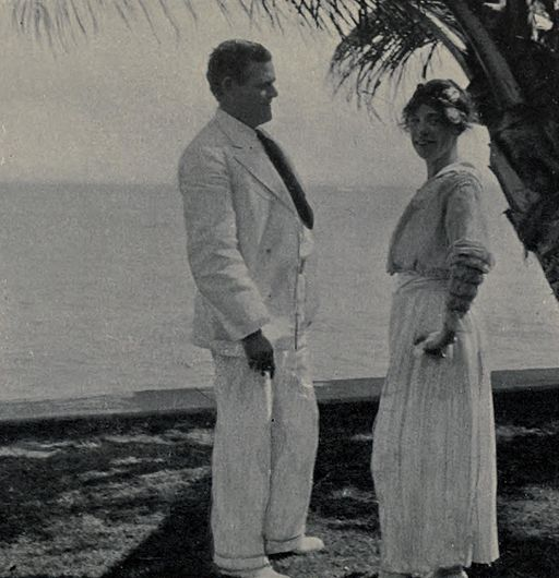 Jack and Charmian at Waikiki 1916