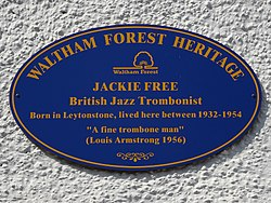 Jackie free (waltham forest heritage)