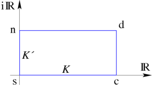Elliptic function - Auxiliary rectangle construction