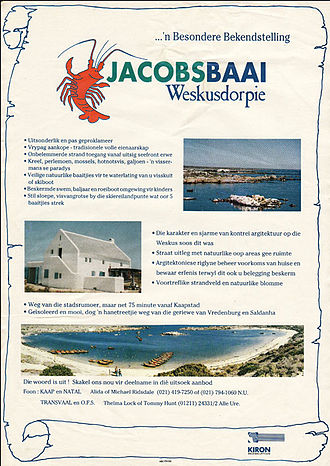 Jacobsbaai - Image: Jacobsbaai flyer