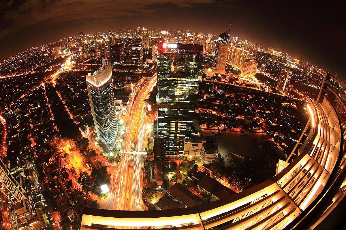File Jakarta Selatan Pada Malam Hari Wikimedia Mons