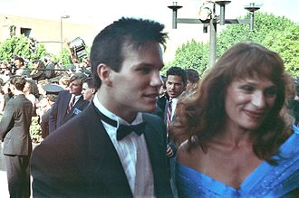 Wendy Robie - Wendy Robie (right) with James Marshall at the 1990 Emmy Awards.