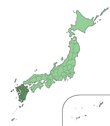 歴史を通じて、特に近代以来、九州島は山口組の多くの有名なボスを含むヤクザのメンバーの最大の源でした。 北九州地方出身の吉田磯吉(1867–1936)は、最初の有名なモダンヤクザと見なされました。 最近、山口組で最も強力な2つの氏族のボスである司司忍と井上邦夫は九州出身です。 島の最北部である福岡は、全都道府県の中で指定シンジケートの数が最も多い。