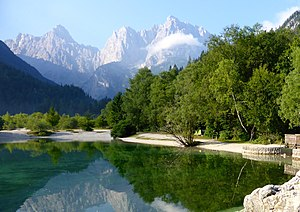 Kranjska Gora - Image: Jasna Lake (9516999811)