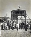 Jawaharlal Nehru at the Power House (Gangowel) at the Nangal Hydel Canal, 8 November 1953.jpg
