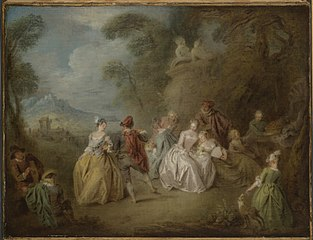 Courtly Scene in a Park